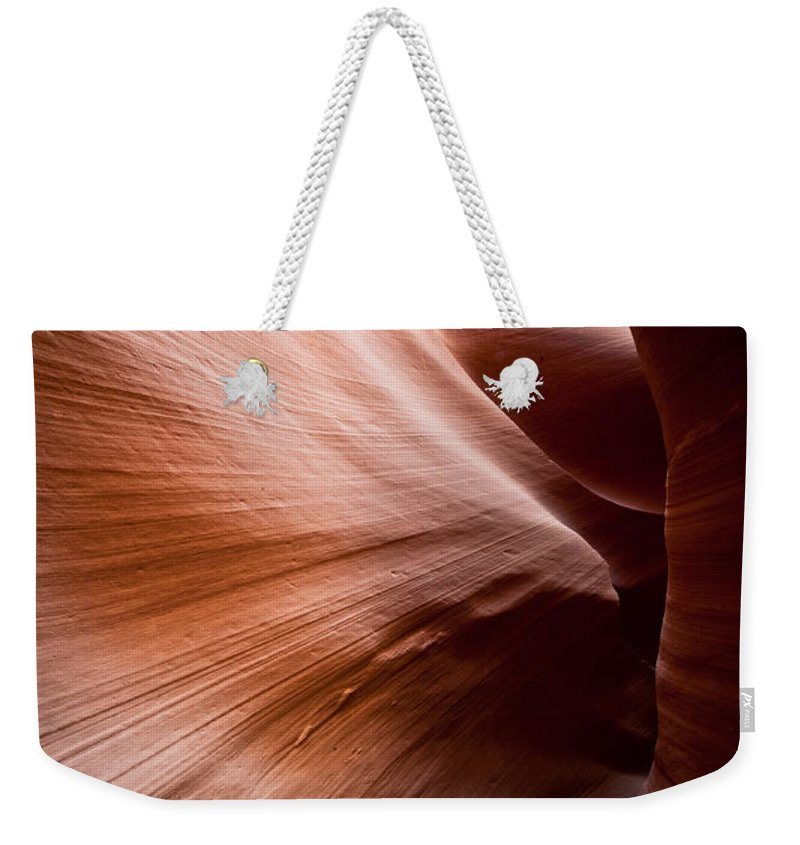 Slot Canyon Weekender Tote Bag featuring the photograph Moving Canyon by Scott Sawyer