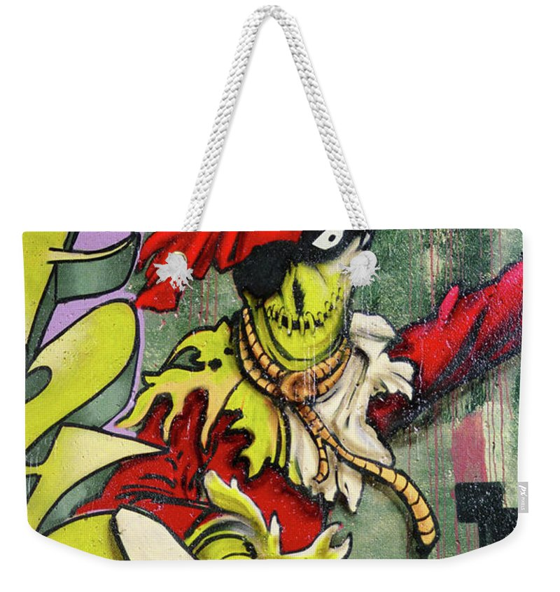 Paint Weekender Tote Bag featuring the photograph Mr. Graffiti by Juergen Weiss