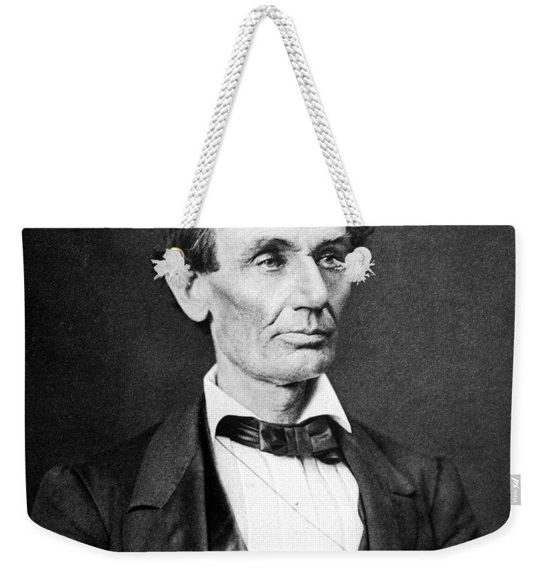 Abe Lincoln Weekender Tote Bags