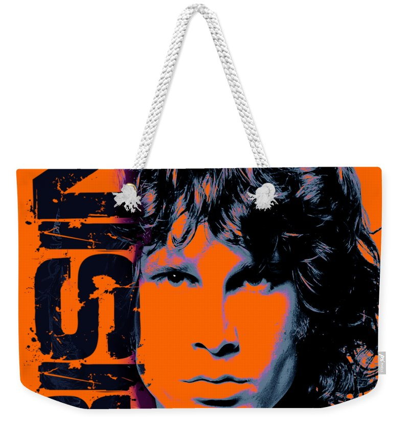 The Doors Weekender Tote Bag featuring the digital art Mr Mojo Risin by Mal Bray