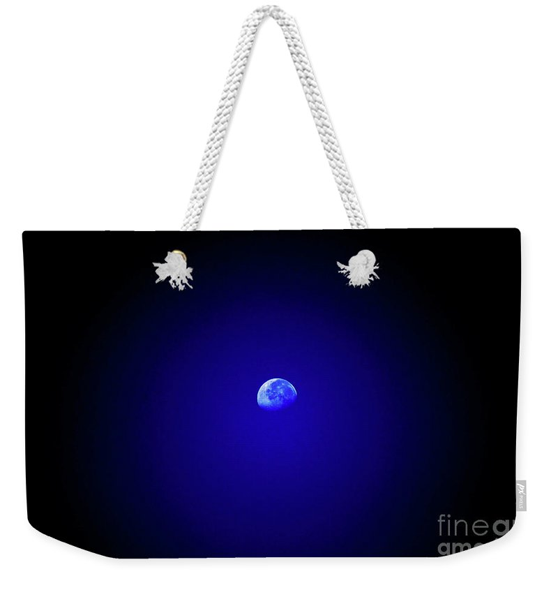 Moon Weekender Tote Bag featuring the photograph Mr Moon by Lori Tambakis
