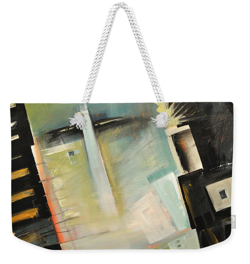 Robot Weekender Tote Bag featuring the painting Mr. Roboto by Tim Nyberg