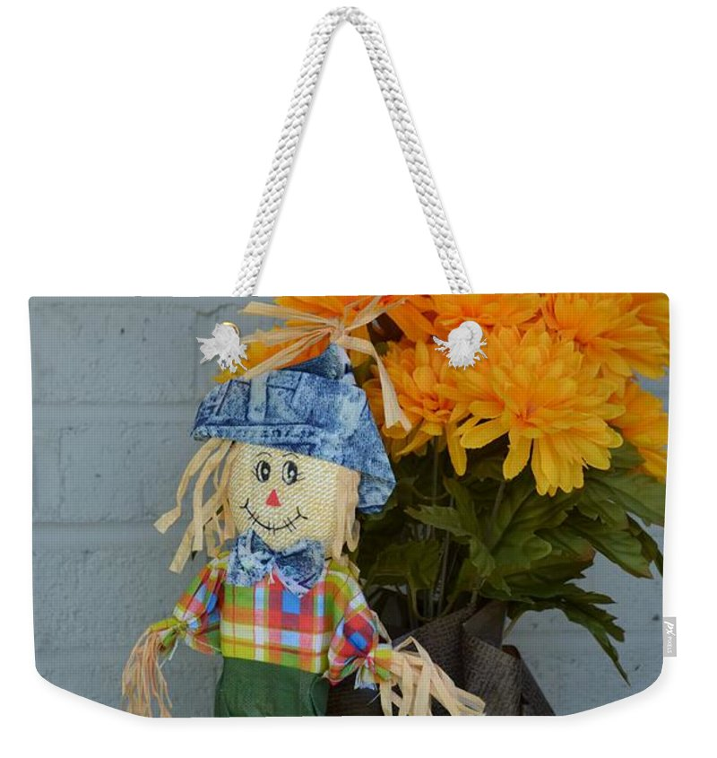 Boy Weekender Tote Bag featuring the photograph Mr Scarecrow by Erica Degni