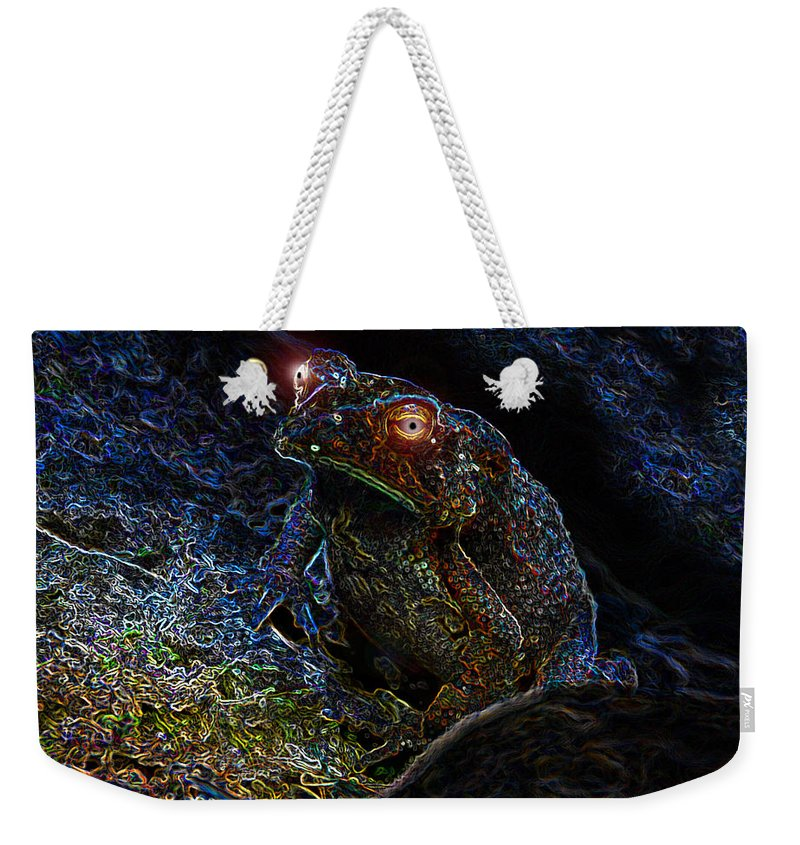 Art Weekender Tote Bag featuring the painting Mr Toads Wild Eyes by David Lee Thompson