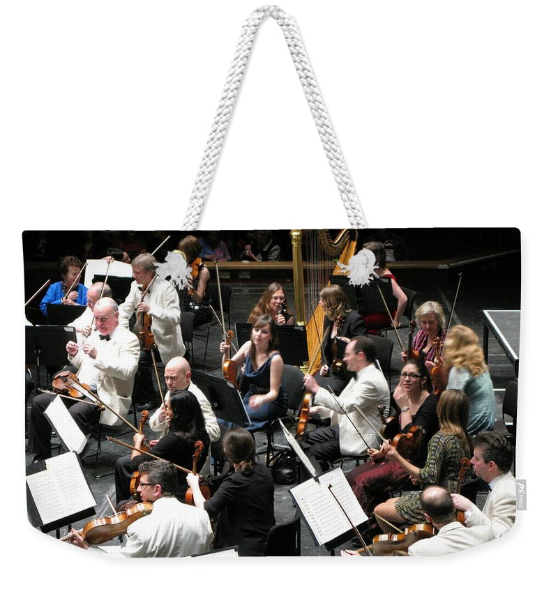 Brighton Symphony Ochestra Weekender Tote Bag featuring the photograph Mr Tuxedo by Maria Joy