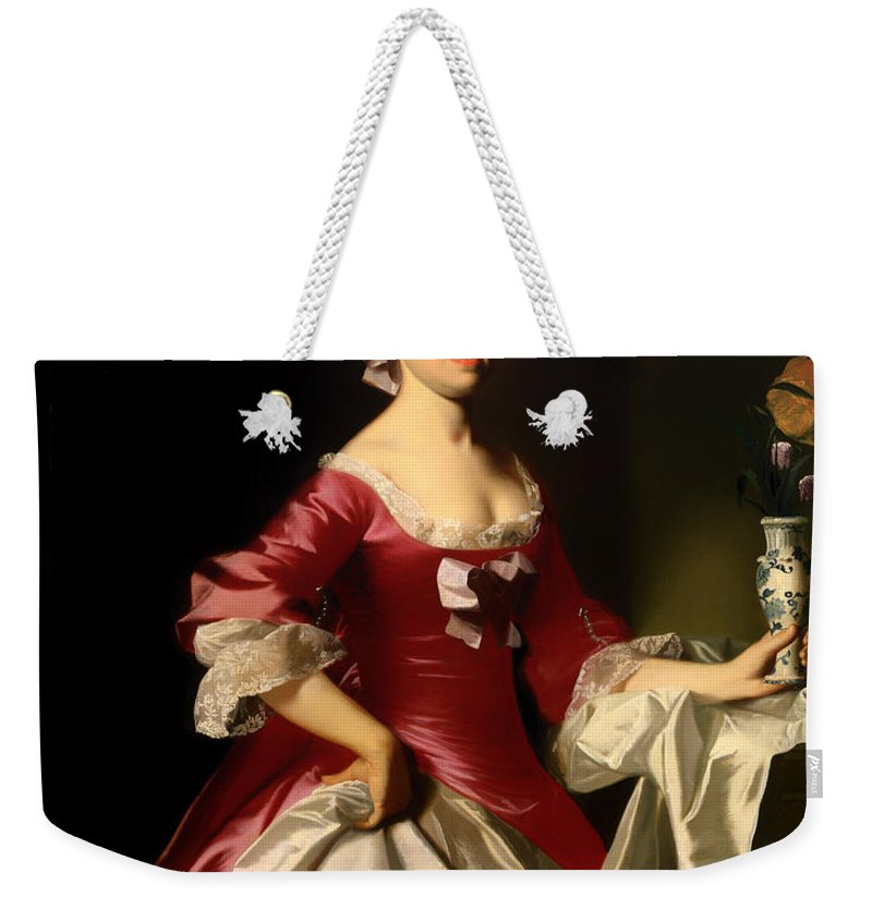 Painting Weekender Tote Bag featuring the painting Mrs George Watson by Mountain Dreams