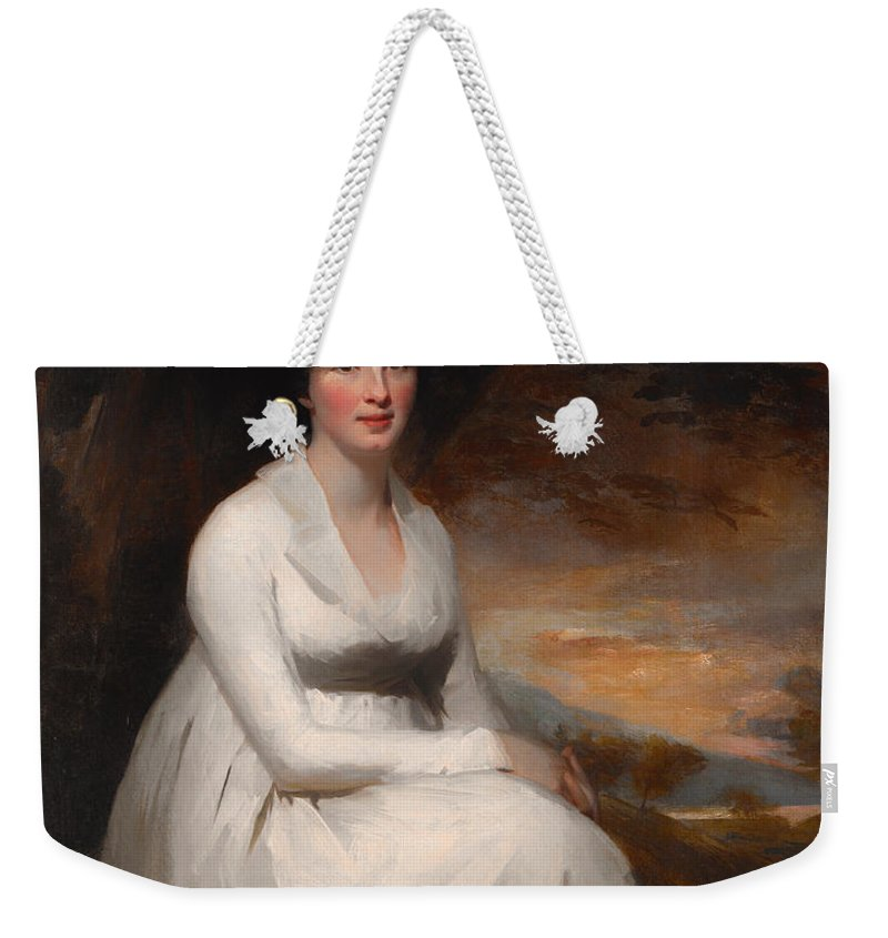 Painting Weekender Tote Bag featuring the painting Mrs Macdowall by Mountain Dreams
