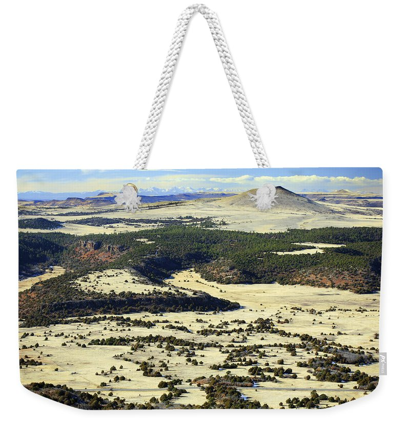 Mt. Capulin New Mexico Weekender Tote Bag featuring the photograph Mt. Capulin New Mexico by Marilyn Hunt
