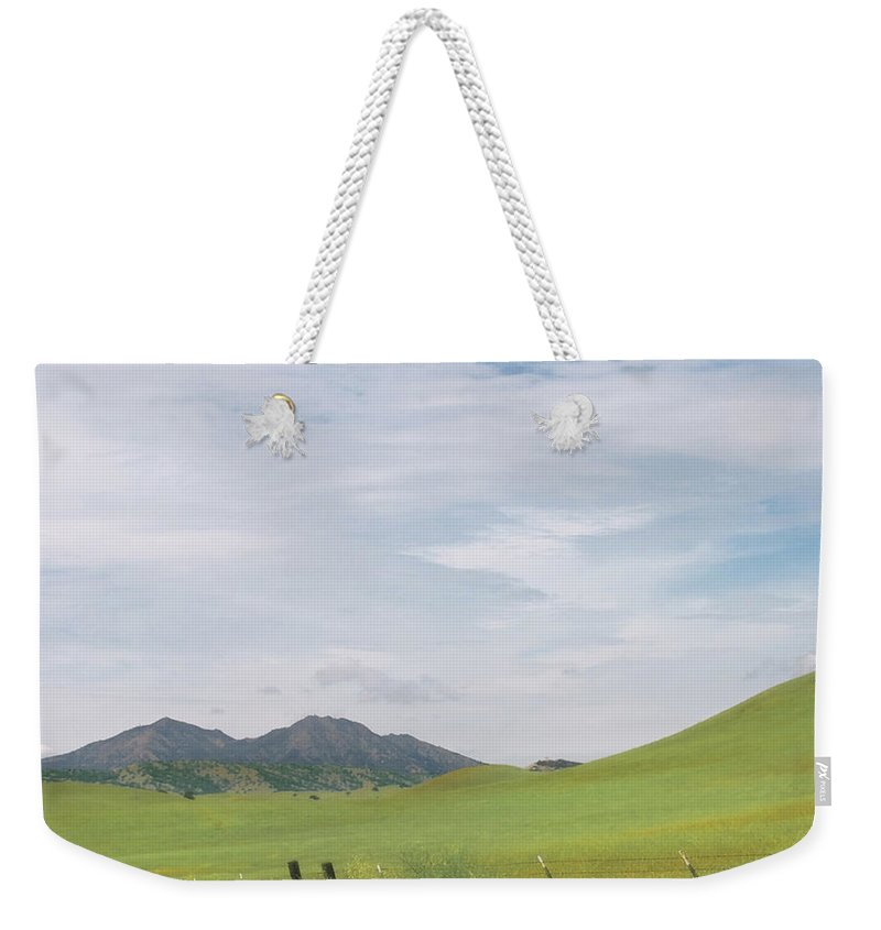 Landscape Weekender Tote Bag featuring the photograph Mt. Diablo Mcr 1 by Karen W Meyer