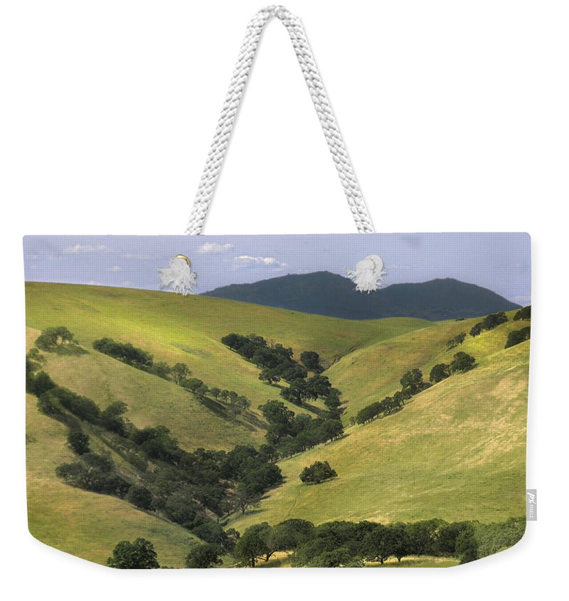 Landscapes Weekender Tote Bag featuring the photograph Mt. Dibalo by Karen W Meyer