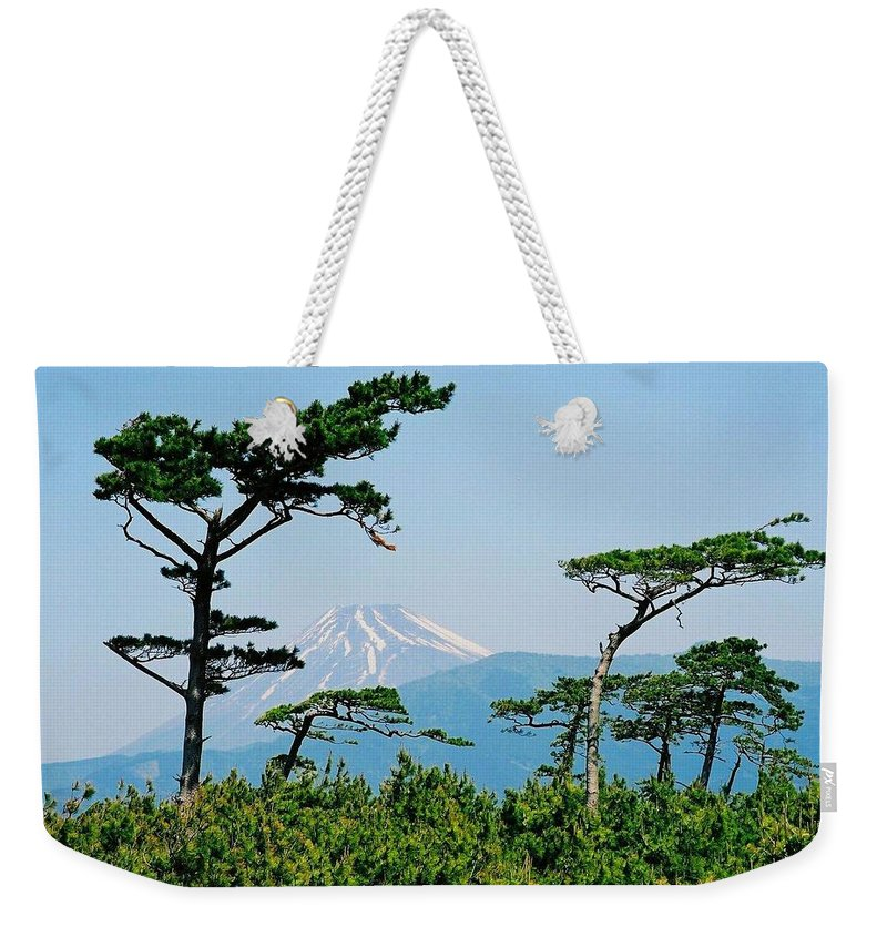 Asia Weekender Tote Bag featuring the photograph Mt. Fuji ... by Juergen Weiss