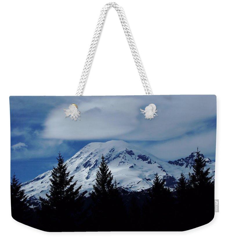 Mount Rainier Weekender Tote Bag featuring the photograph Mt Rainier by Jeff Swan