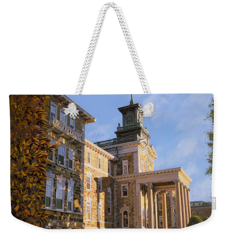 New Jersey Weekender Tote Bag featuring the painting Mt St.mary Academy by Guido Borelli