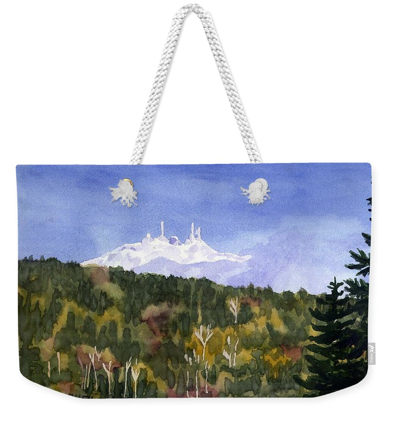 Landscape Weekender Tote Bag featuring the painting Almost Mystical by Sharon E Allen