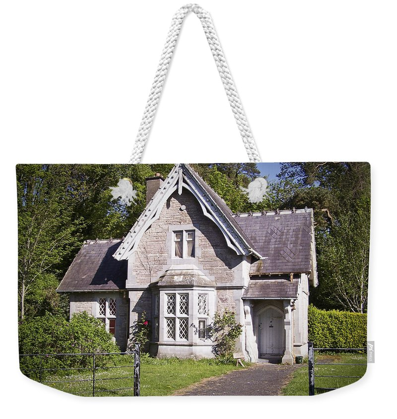 Irish Weekender Tote Bag featuring the photograph Muckross Cottage Killarney Ireland by Teresa Mucha