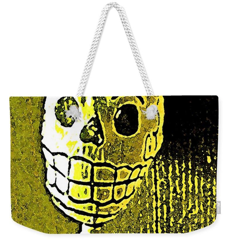 Skull Weekender Tote Bag featuring the photograph Muertos 1 by Pamela Cooper