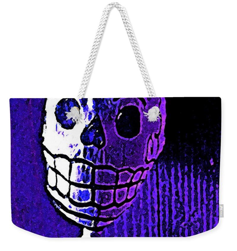 Skeleton Weekender Tote Bag featuring the photograph Muertos 2 by Pamela Cooper