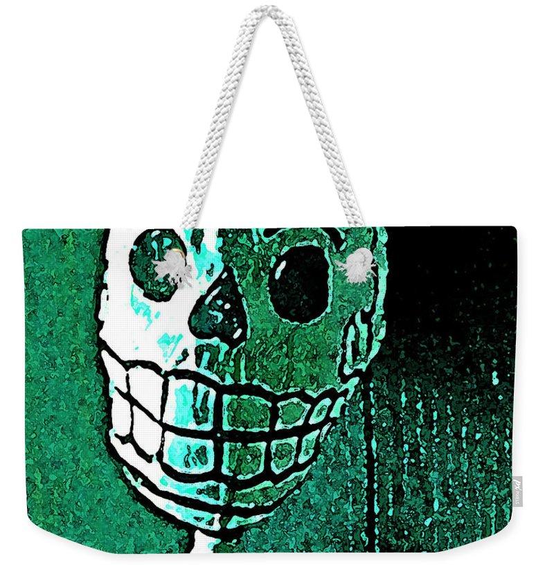 Skull Weekender Tote Bag featuring the photograph Muertos 4 by Pamela Cooper