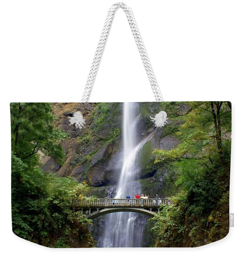 Waterfalls Weekender Tote Bag featuring the photograph Multanomah Falls by Marty Koch