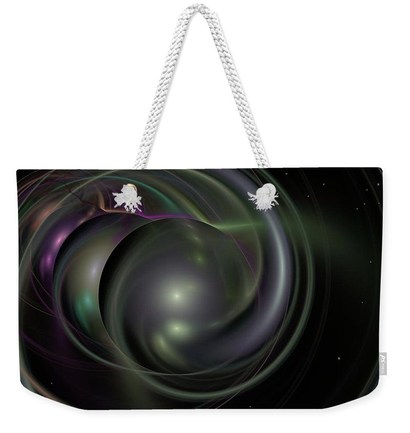 Fantasy Weekender Tote Bag featuring the digital art Multiverse by David Lane