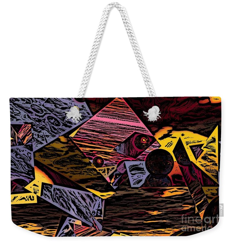 Weekender Tote Bag featuring the digital art Multiverse II by David Lane