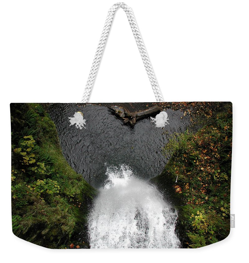 Multnomah Falls Weekender Tote Bag featuring the photograph Multnomah Falls - 4 by D'Arcy Evans