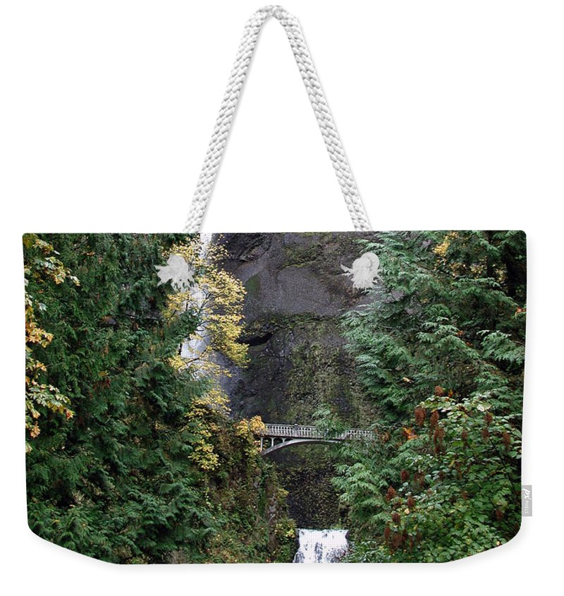 Multnomah Falls Weekender Tote Bag featuring the photograph Multnomah Falls - 5 by D'Arcy Evans