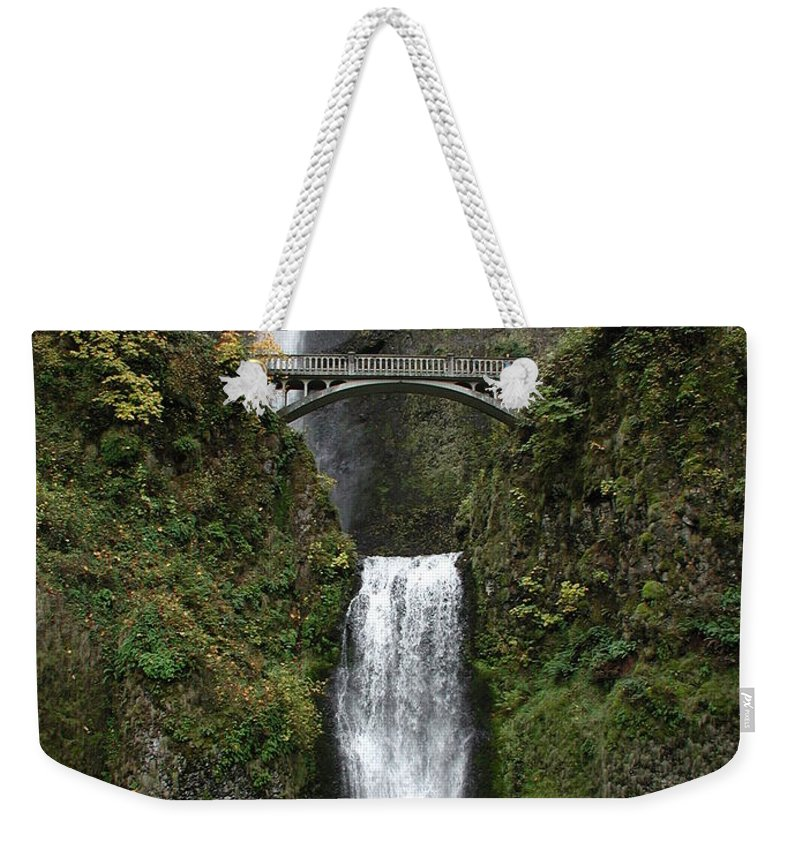 Multnomah Falls Weekender Tote Bag featuring the photograph Multnomah Falls 1 by D'Arcy Evans