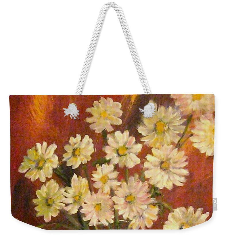 Mums Weekender Tote Bag featuring the painting Mum Magic by Tina Swindell