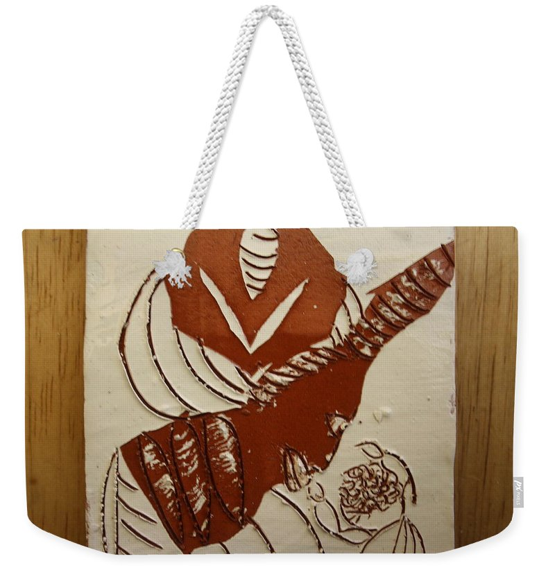 Jesus Weekender Tote Bag featuring the ceramic art Mums Gal - Tile by Gloria Ssali