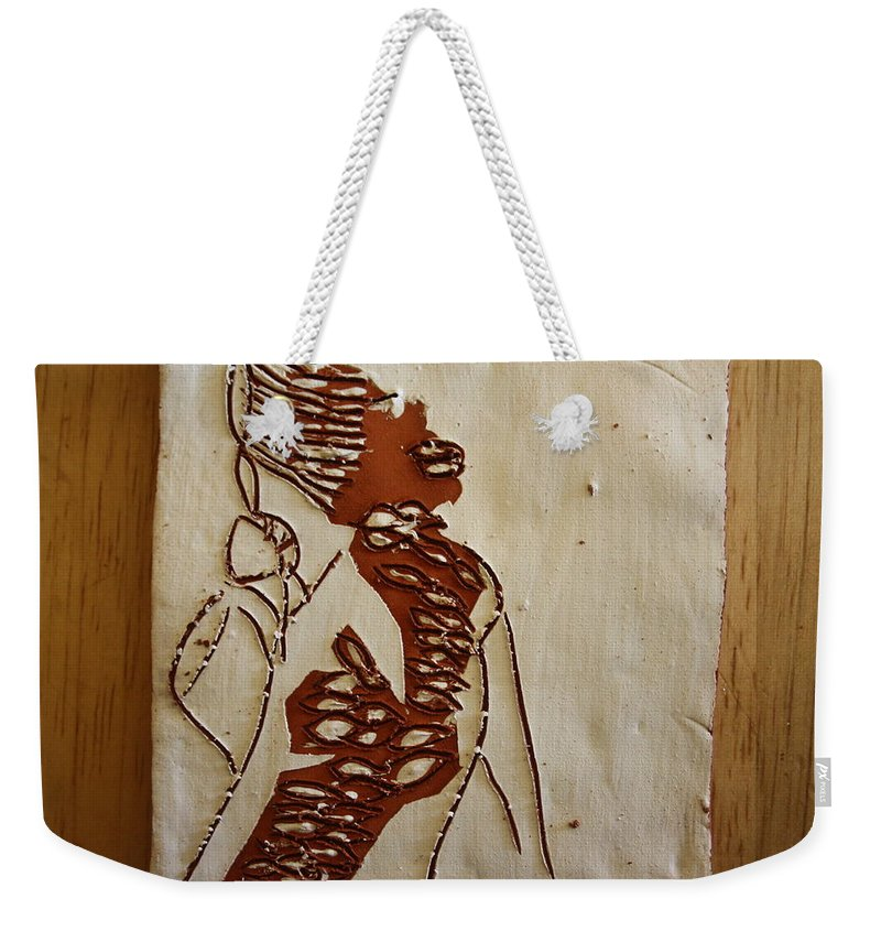 Jesus Weekender Tote Bag featuring the ceramic art Mums Home - Tile by Gloria Ssali