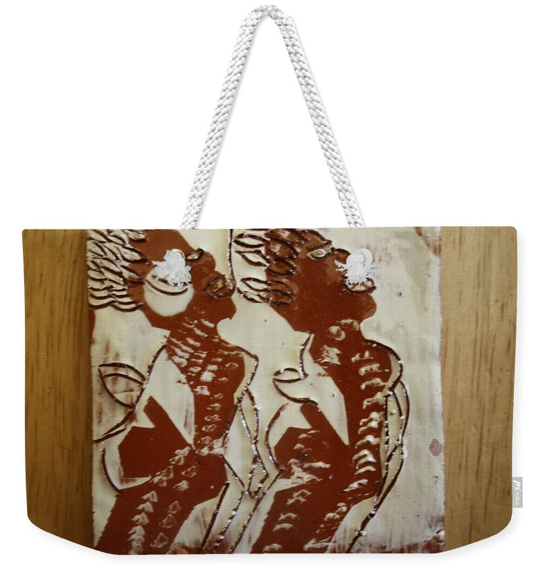 Jesus Weekender Tote Bag featuring the ceramic art Mums Union - Tile by Gloria Ssali