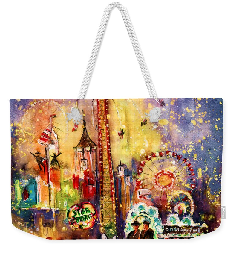 Travel Weekender Tote Bag featuring the painting Munich Authentic by Miki De Goodaboom