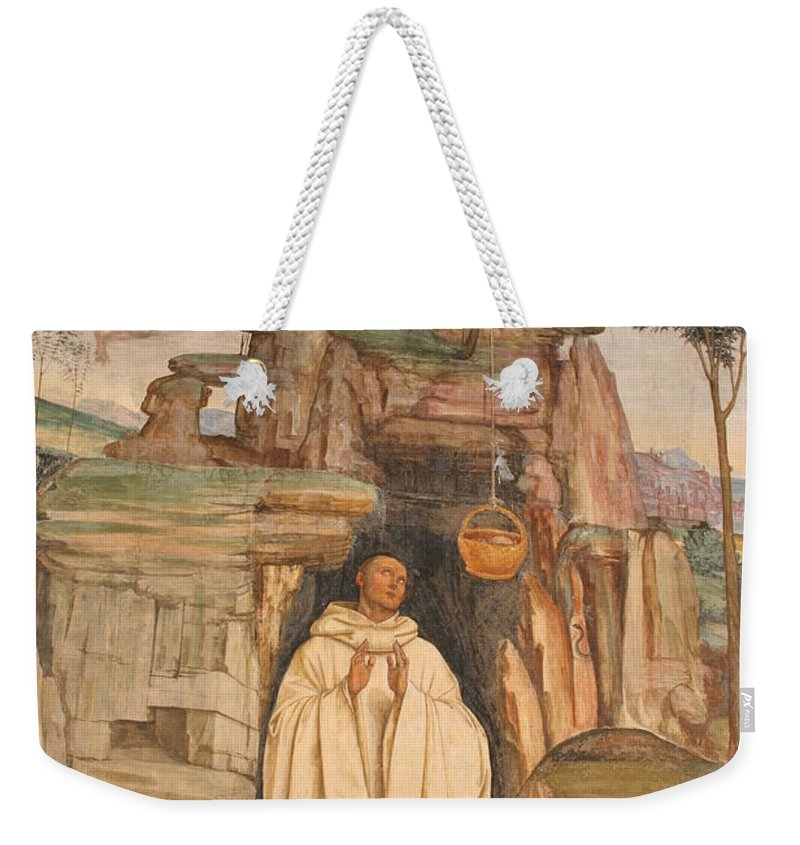Mural Art Weekender Tote Bag featuring the photograph Mural Church Art by Christiane Schulze Art And Photography