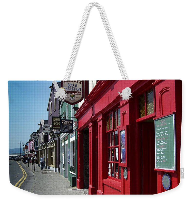 Irish Weekender Tote Bag featuring the photograph Murphys Bed And Breakfast Dingle Ireland by Teresa Mucha