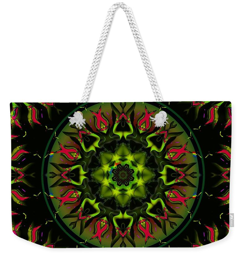 Green Weekender Tote Bag featuring the digital art Murphys Law by Robert Orinski