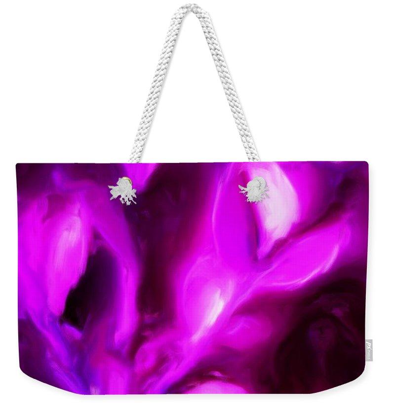 Fine Art Weekender Tote Bag featuring the digital art Muses by David Lane