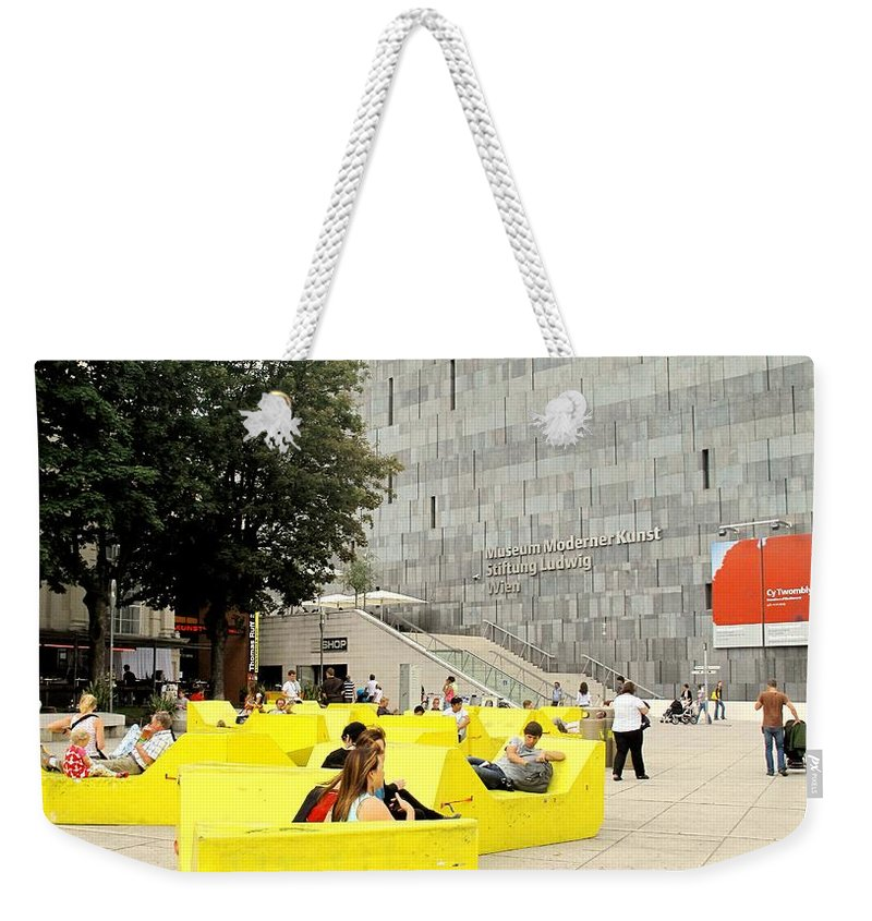 Museum Weekender Tote Bag featuring the photograph Museum Modener Kunst by Ian MacDonald
