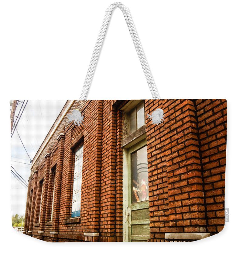 Museum Weekender Tote Bag featuring the photograph Museum Side Up by Nick Kirby
