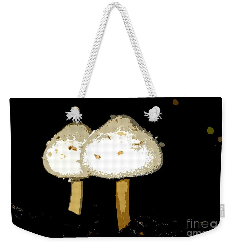 Mushrooms Weekender Tote Bag featuring the photograph Mushrooms For Two Work Number 11 by David Lee Thompson