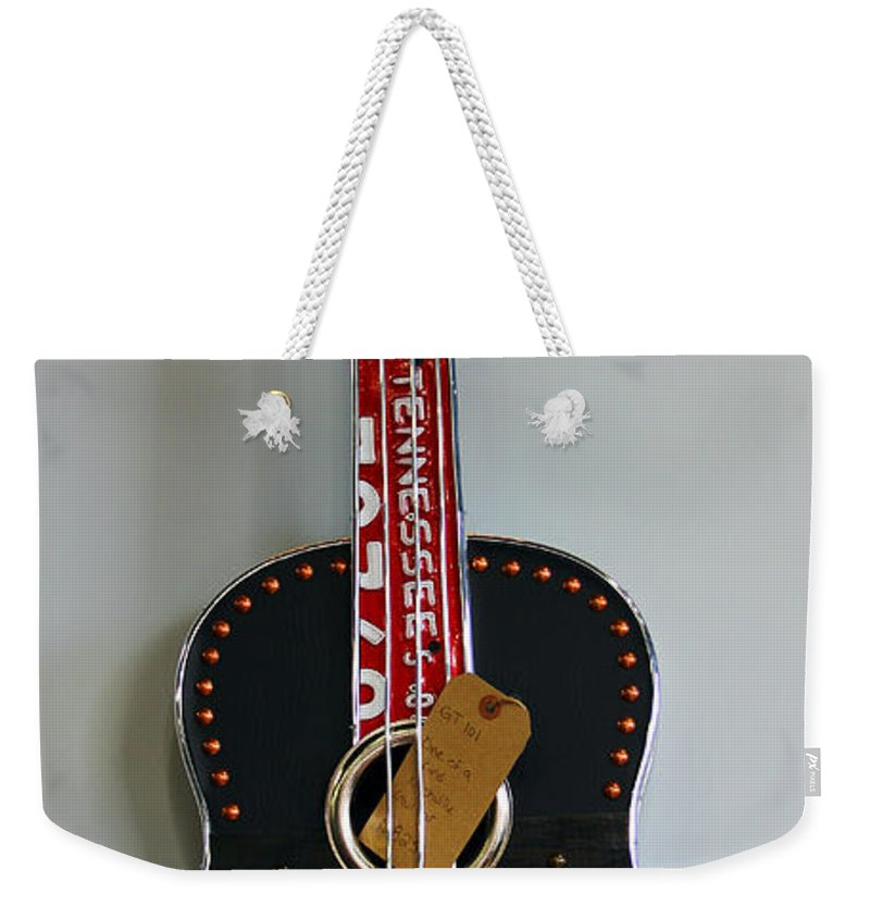 Music City Weekender Tote Bag featuring the photograph Music City Guitar by Jennifer Robin