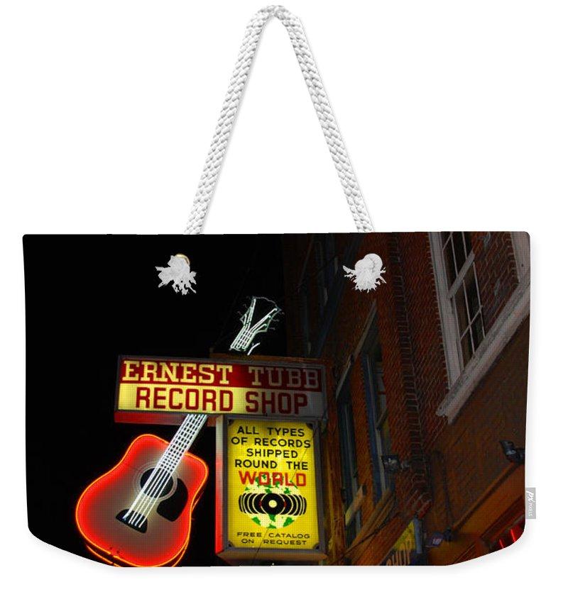Nashville Weekender Tote Bag featuring the photograph Music City Nashville by Susanne Van Hulst