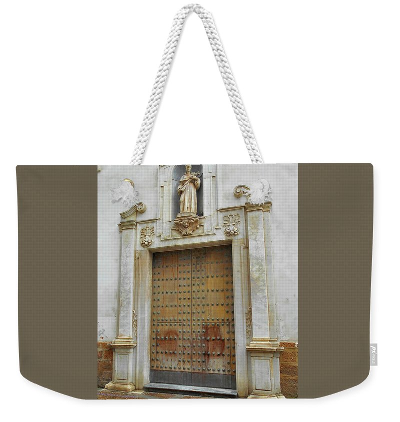 Landscape Weekender Tote Bag featuring the photograph Music Door Cadiz by Mark Victors