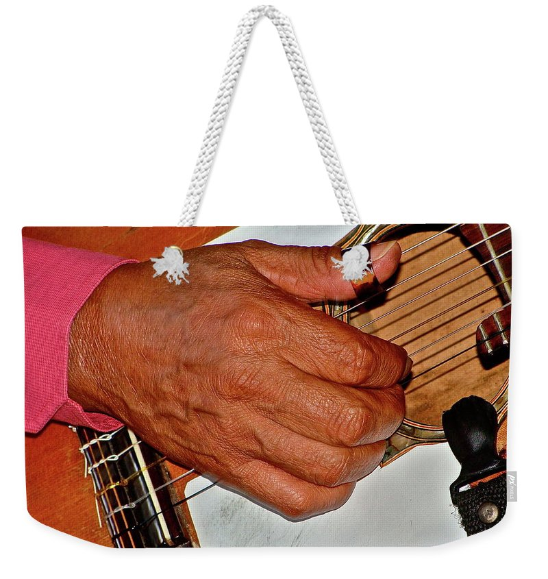 Music Weekender Tote Bag featuring the photograph Music Maker by Diana Hatcher