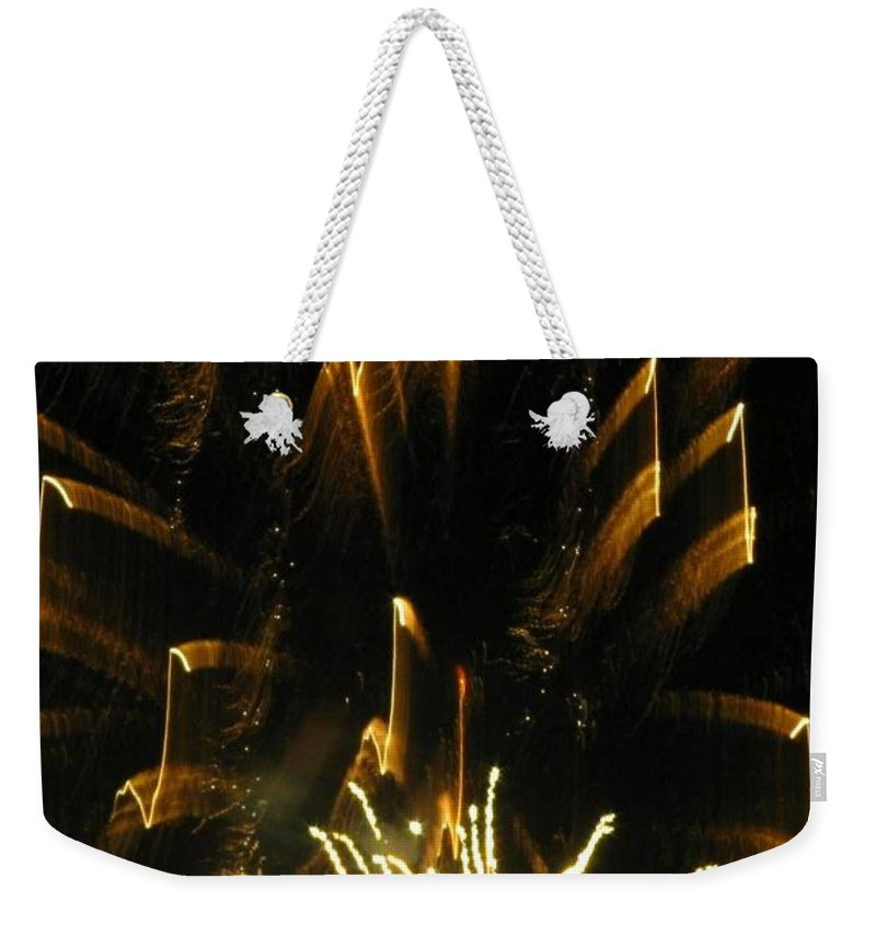 Fireworks Weekender Tote Bag featuring the photograph Music To My Eyes by Rhonda Barrett