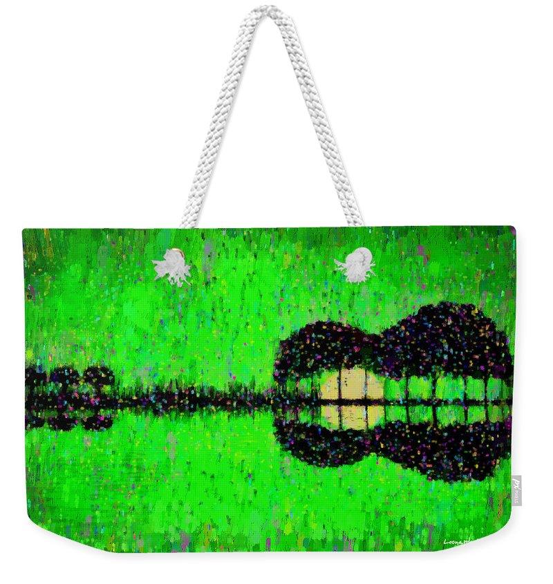 Music World Weekender Tote Bag featuring the digital art Music World - Da by Leonardo Digenio
