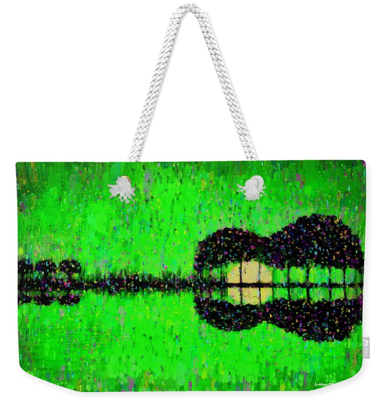 Music World Weekender Tote Bag featuring the painting Music World - Pa by Leonardo Digenio