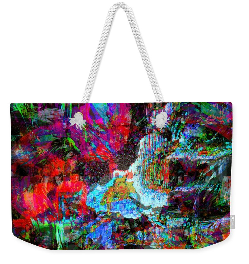 Fania Simon Weekender Tote Bag featuring the mixed media Musical Fountain by Fania Simon