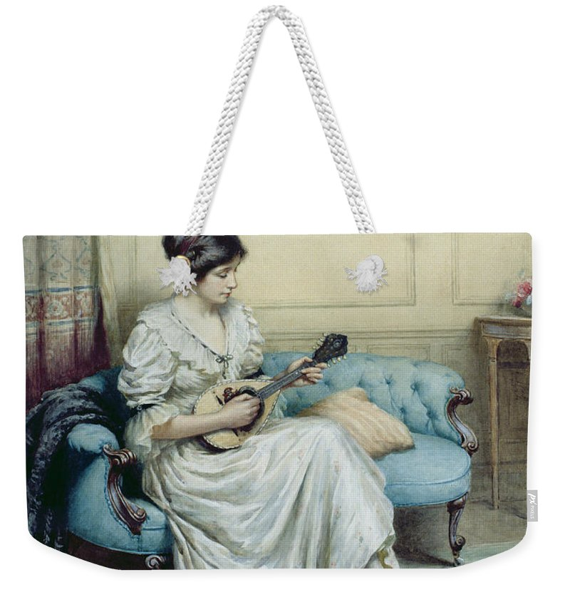 Musical Weekender Tote Bag featuring the painting Musical Interlude by William Kay Blacklock