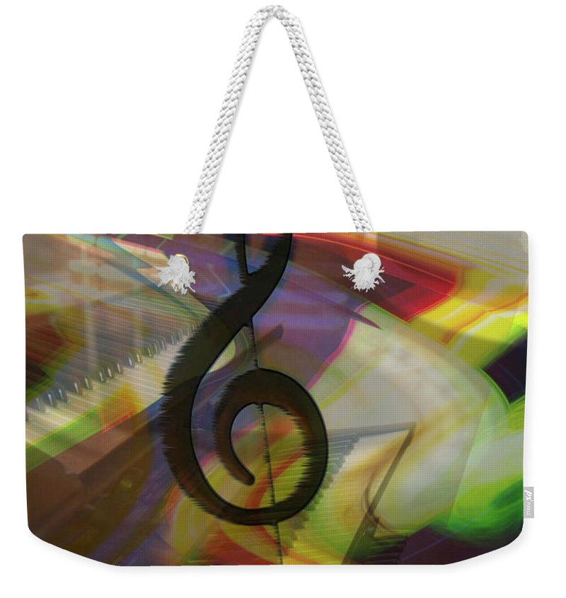 Keyboards Weekender Tote Bag featuring the photograph Musical Waves by Linda Sannuti